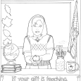Apple for the Teacher coloring page