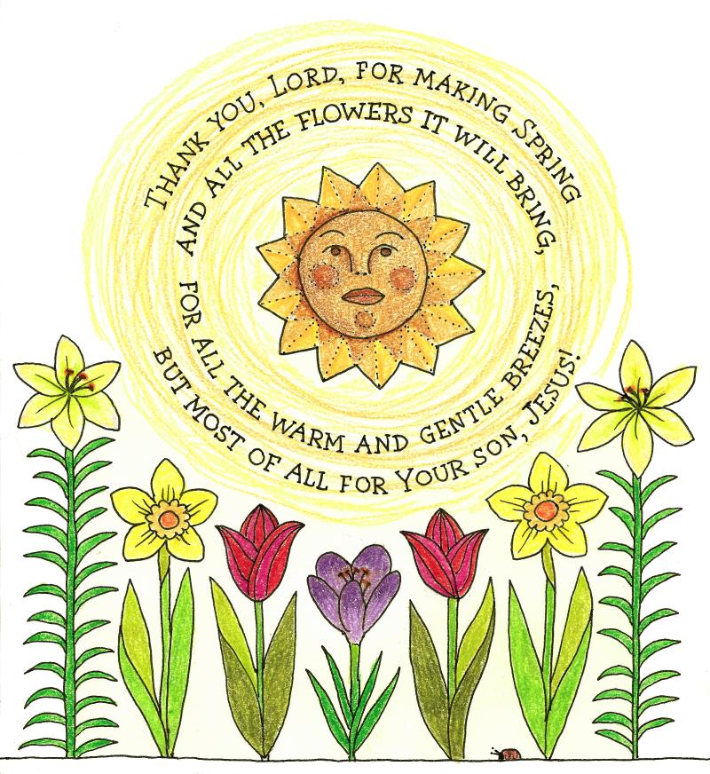 Spring Flowers less luminous